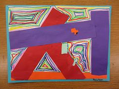 The Great Artdoors: A Little Overlapping and Line Practice with Kindergarten