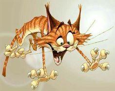 """Svet cat"" by Dennis Jones. A classic! Cartoon Kunst, Cartoon Art, Eclectic Artwork, Gatos Cats, Photo Chat, Cat Drawing, Whimsical Art, Crazy Cats, Cat Art"