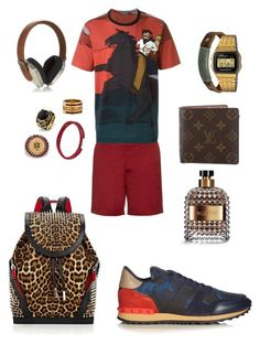 """Drama noon!"" by cacagasp on Polyvore featuring Valentino, Gucci, Dolce&Gabbana, NOVICA, Casio, West Coast Jewelry, Tiffany & Co., Alexander McQueen, Tateossian e Christian Louboutin"