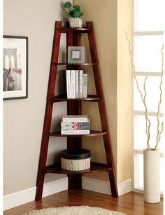 Beachcrest Home Pierview Corner Unit Bookcase #bookcase #ad #forthehome #books #shelving #forthehome