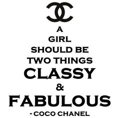 Classy and Fabulous CoCo Chanel vinyl wall quote decal. $24.99, via Etsy.