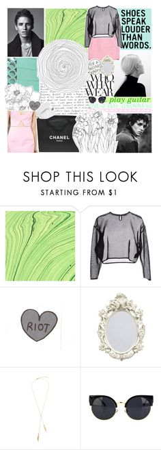 """""""the colors in her hair don't seem to fade"""" by ceharkins06 ❤ liked on Polyvore featuring Chanel, Yves Saint Laurent, Who What Wear and adidas Originals"""