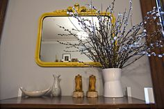 love the yellow mirror! Yellow Mirrors, French Mirror, Lust, Oversized Mirror, Interior, Room, Photography, Furniture, Home Decor