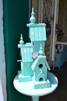 Hand painted Victorian Birdhouse