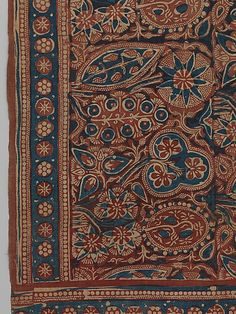 Forested Landscape - Late 14th–early 15th century - India (Gujarat) - Plain-weave cotton, mordant-dyed, block-printed and painted resist-dyed