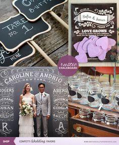 Pizarrones / Bodas rústicas / Eventos rústicos / Ideas originales para bodas / Decoraciones bodas / Rustic weddings / Rustic chalkboard wedding ideas that help you personalize your big day!