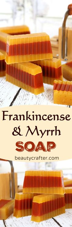 DIY Frankincense Myrrh Soap, what could be more appropriate as a holiday gift #christmas #frankincense #myrrh #gifts #soapmaking #soap #crafts  via @beautycrafts