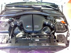 For those uncultured heathens, this is the engine compartment of a BMW M6 with a Dinan package.  Drool.