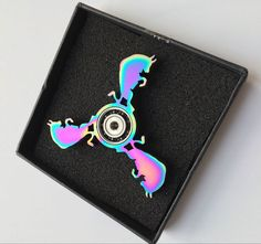 2 To 5 Minutes Bull New Version Special Shaped Fidget Hand Spinner ADHD Anti Stress Fingers Titanium Alloy Rainbow Color