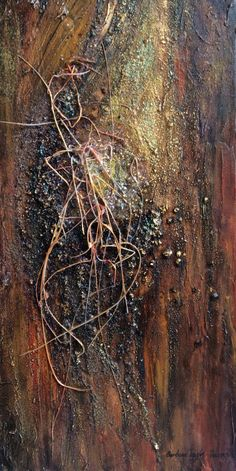 Beauty of Wood Spirit: Barbara Taylor-Harris. A beautiful mixed media piece where the 3D pen printed filament adds the final finish. Sold