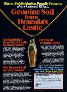 "1981: ""Genuine Soil From Dracula's Castle"""