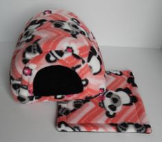 Cavy Shack in Pandas with Black by PeeweesPiggyPalace on Etsy