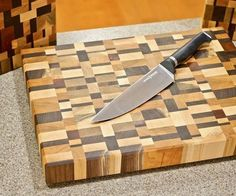 In this Instructable, I'll show you how to build an awesome end grain cutting board from scrap wood! These turned out amazing, and they would make some awesome last minute gifts. Make sure not to miss the video above for even more details! End Grain Cutting Board, Diy Cutting Board, Wood Cutting Boards, Butcher Block Cutting Board, Learn Woodworking, Woodworking Projects Diy, Woodworking Plans, Woodworking Videos, Woodworking Apron
