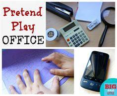preschool pretend play office