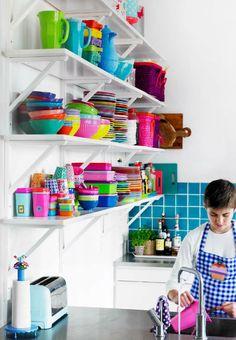 love all that colourful kitchen stuff