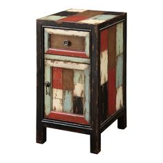 Accent Cabinet in Distressed Black