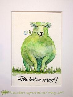 """No. 014 der wandklex-Unikatserie """"Ich war schon immer das Bunte Schaf der Familie"""" - nummerierte Einzelstücke! Ihr eigenes Schaf können Sie als Ihr Designerstück von wandklex® Ingrid Heuser, Ratzeburg, Germany bestellen:  im kleinen Klexshop bei DaWanda auf http://de.dawanda.com/shop/wandklex ©  Kunstatelier wandklex Ingrid Heuser, D-Ratzeburg Besuchen Sie mich auch auf facebook: https://www.facebook.com/wandklex"""