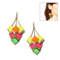 """Pantone Neon Earrings (Retail Price $81.00) """"Our Price $26.00"""" only at nomorerack.com"""