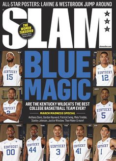 Blue Magic: Cats on the cover of the latest Slam Magazine http://kentucky.247sports.com/Bolt/Kentucky-on-the-latest-cover-of-Slam-Magazine-36100385… #BBN
