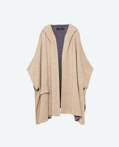 Image 8 of CAPE COAT WITH HOOD from Zara