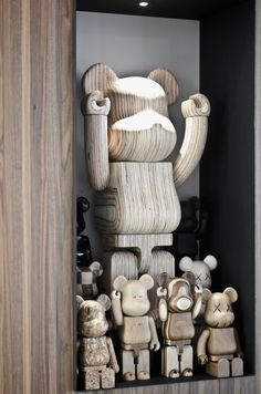 wooden bearbricks