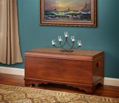Amish Cherry Wood Large Waterfall Hope Chest A lovely addition at the foot of the bed in your master bedroom or guest room, the Amish Cherry Wood Large Waterfall Hope Chest is perfect for storing extra blankets, quilts and pillows. Fast Furniture, Amish Furniture, Solid Wood Furniture, Repurposed Furniture, Furniture Making, Bedroom Furniture, Bedroom Decor, Furniture Stores, Kitchen Furniture