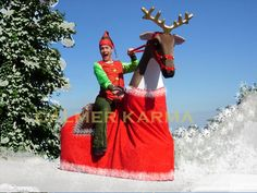 Christmas Party Entertainment - gliding reindeer at your command http://www.calmerkarma.org.uk/CHRISTMAS-ENTERTAINMENT-FAMILY-EVENTS.html Perfect for shopping centres and open air Christmas celebrations. Hire across the UK inc MANCHESTER, LONDON, BIRMINGHAM, CARDIFF, BRIGHTON