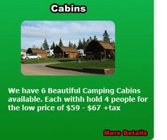 "Baddeck campground - ""our honeymoon cabin"" place"