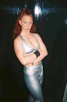 No it's not Kathy Griffin, it's Indy wrestler Molotov aka Tasha Simone. Interestingly...her real last name is Cruz and she is from Texas...Hmmmm... http://womensprowrestling.blogspot.com/2007/10/molotov-tasha-simone.html