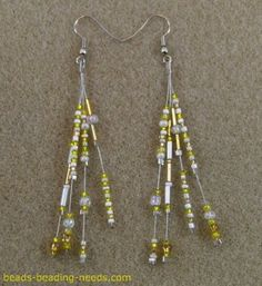 How to Make these Beautiful Seed Bead  Earrings