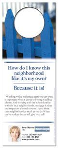 Real Estate Neighborhood Door Hangers
