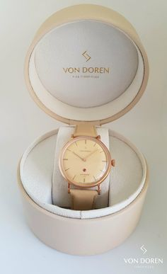 A unique ladies watch with a real red ruby JOTUNHEIM Lady, a classic and elegant timepiece available in 3 different color combinations. Design by Von Doren