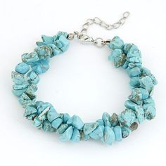 Turquoise Bracelet made of natural stones Pulseiras #Pulseiras