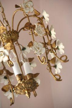 Dress up a chandelier with Benjamin Moore molten metallics!
