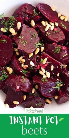 Instant Pot Beets take 20 minutes to cook in your pressure cooker which is so much faster than any other method! If the long cook time is what's been holding you back from enjoying this incredibly healthy, robust, and gorgeous root vegetable, now's the time to get back onboard friends! This easy-to-follow recipe results in fork-tender beets every time ready to be used as a side dish, in desserts, in soups, salads, and even as a snack on its own. How To Peel Beets, Beet Salad Recipes, Vegan Recipes, Cooking Beets, Best Instant Pot Recipe, Healthy Family Meals, Recipe Instructions, Food Website, How To Cook Eggs