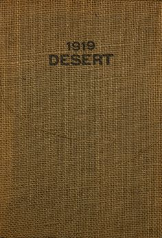 1919 Desert, University of Arizona Yearbook