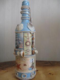 Turn your own area desk lamp using an upcycled beer bottle. Wine Bottle Corks, Glass Bottle Crafts, Bottle Candles, Diy Bottle, Bottle Lamps, Painted Wine Bottles, Bottles And Jars, Glass Bottles, Decorated Bottles