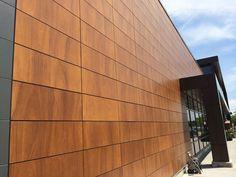 Project: Provigo Le Marche Boucherville, QC  Architect: Stendeil + Reich Architectes, Christian Deslauriers Product: Parklex Facade Copper  Photographed By: Eric Gervais