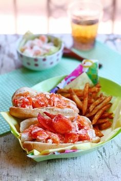 Lobster Roll: Just delicious chunks of chilled poached lobster meat stuffed in a bun with mayo and a little light seasoning.