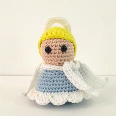 Serene Christmas Angel Amigurumi Crochet Pattern Crochet Christmas Decorations, Crochet Christmas Ornaments, Christmas Crochet Patterns, Crochet Decoration, Holiday Crochet, Christmas Knitting, Christmas Angels, Handmade Decorations, Crochet Gratis