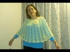 Tricô + Crochê: Poncho de crochê branco - Receita e gráfico