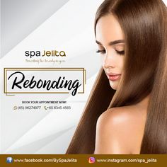 Don't be disappointed if you're not blessed with straight hair. As our Hair Rebonding is here to make your hair perfectly straight! You'll get these benefits when you avail our Rebond :down:  - Rebonding allows perfectly straight tresses. - It doesn't need to be repeated for the next year or so. - It minimizes hair damage by using revolutionary products.  What are you waiting for? Visit Spajelita now! Damaged Hair, Disappointed, Revolutionaries, Straight Hairstyles, Your Hair, This Is Us, Waiting, Blessed, Make It Yourself