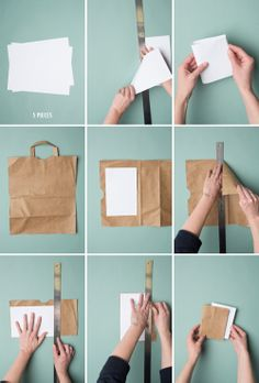 Make a notebook out of a paper bag!  The House That Lars Built.: 5 minute bookbinding