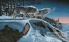 Moonlight Prowlers - cross stitch pattern designed by Tereena Clarke. Category: Wild.