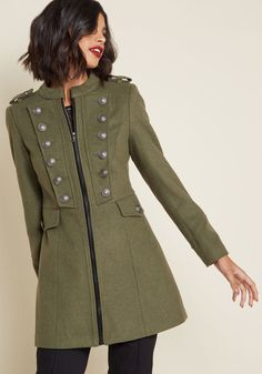 Timeless Edge Car Coat in 16 (UK) - Long Walker by Joe Brown from ModCloth