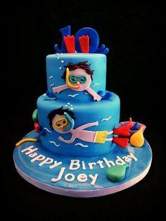Pool Party Cake, snorkel