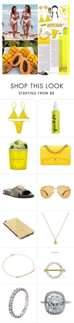 """""""7/3/17"""" by naomi-alexis ❤ liked on Polyvore featuring Urban Decay, Pierre Hermé, Chanel, Versace, Gucci, Aveeno, Goldgenie, Djula, Cartier and Harry Winston"""