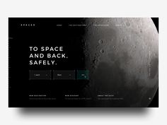 SPACED Booking designed by Gil . Connect with them on Dribbble; the global community for designers and creative professionals. Travel Website Design, Website Design Layout, Homepage Design, Web Layout, App Design, Book Design, Layout Design, Star Citizen, Space Books
