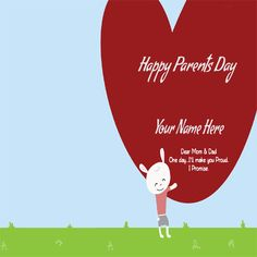 Write Your Name On Happy Parents Day Greetings Pic