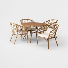 I want this glorious photo Wicker Dining Set, Wicker Patio Furniture, Wood Patio, Dining Arm Chair, Outdoor Furniture Sets, Dining Sets, Patio Loveseat, Patio Chairs, Patio Dining